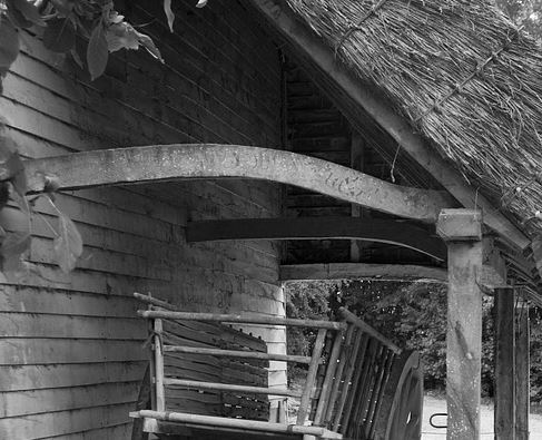 thatch roof on barn in United Kingdom