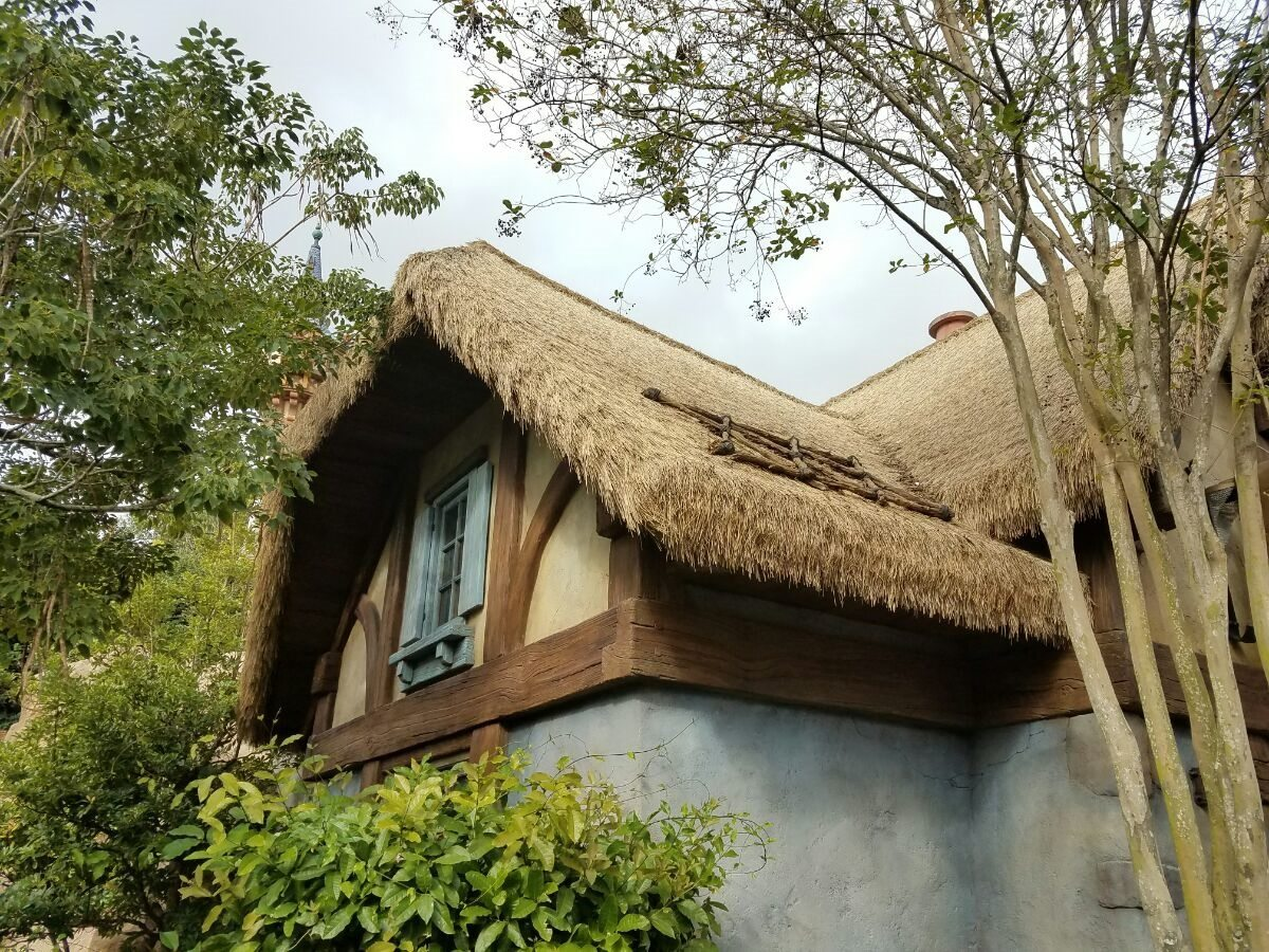 European thatch roof cottage at Disney.