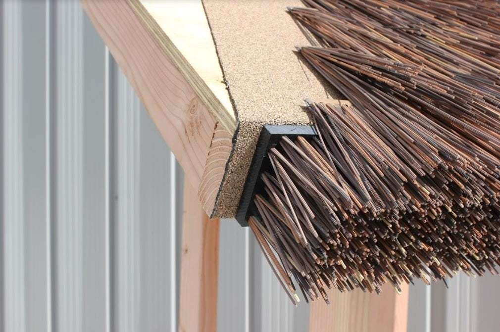 Don't use roofing felt beneath Endureed synthetic thatch.
