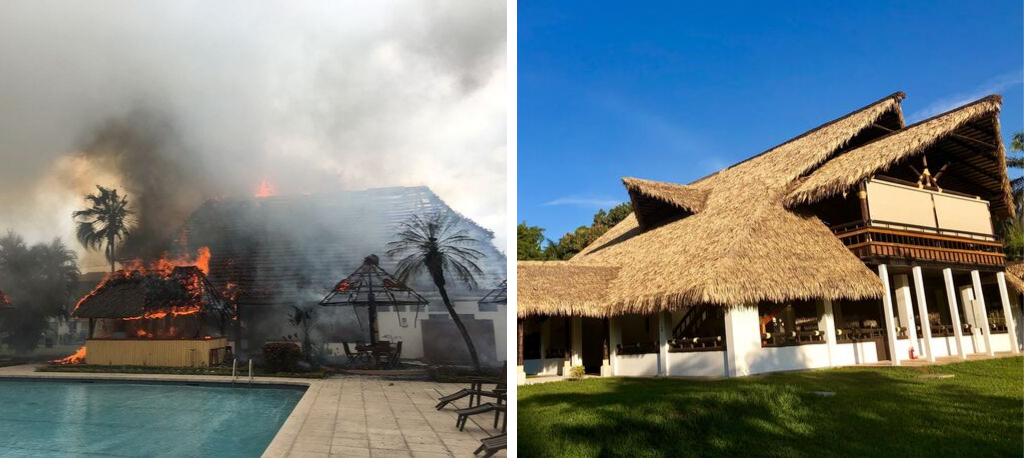 Fire-Resistant Synthetic Thatch